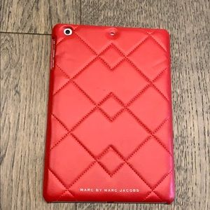 Red IPad mini leather case